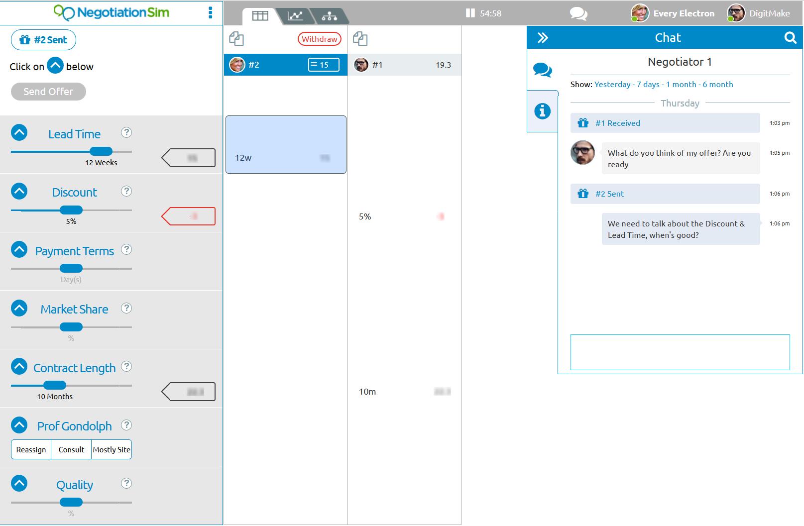 Negotiation Sim Screenshot