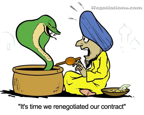 Snake Charmer Renegotiation